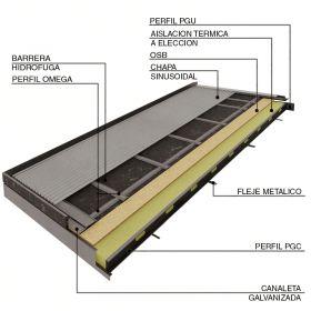 Cubierta Steel Framing pendiente única