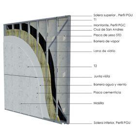Pared portante Steel Framing
