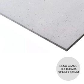 Placa yeso cielorraso desmontable Deco Clasic texturada clasica 6.4mm x 606mm x 606mm