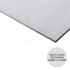 Placa yeso cielorraso desmontable Deco Clasic texturada clasica 6.4mm x 606mm x 1216mm