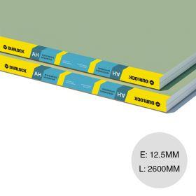 Placa yeso revestimiento anti humedad AH 12.5mm x 1200mm x 2600mm
