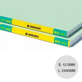 Placa yeso construccion seco resistente humedad RH interior 12.5mm x 1200mm x 2400mm