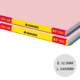 Placa yeso construccion seco resistente fuego RF interior 12.5mm x 1200mm x 2400mm