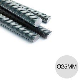Barra hierro construccion aletado ø25mm x 12m