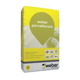 Pegamento piso y revestimientos Weber Porcellanato bolsa x 30kg