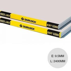 Placa yeso construccion seco estandar STD reforzado interior 9.5mm x 1200mm x 2400mm