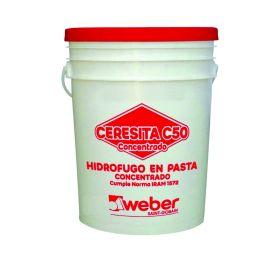 Aditivo hidrofugo Ceresita C50 concentrado en pasta balde x 1kg