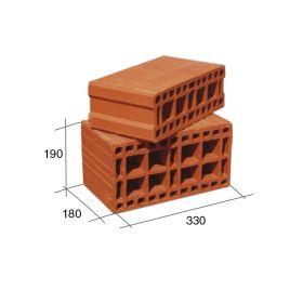 Ladrillo bloque 18 ceramico portante 180mm x 190mm x 330mm