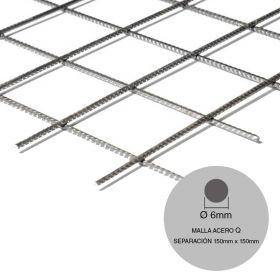Malla acero Q188 maxi ø6mm separacion 150mm x 150mm medidas 2400mm x 6000mm x 14.4m²