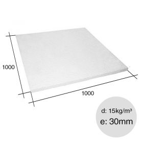 Placa aislante termico Isoplancha EPS densidad 15kg/m³ 30mm x 1000mm x 1000mm