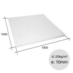 Placa aislante termico Isoplancha EPS densidad 25kg/m³ 10mm x 1000mm x 1000mm