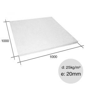 Placa aislante termico Isoplancha EPS densidad 25kg/m³ 20mm x 1000mm x 1000mm