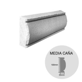Moldura decorativa HCCA Liston Media Caña 35mm x 100mm x 500mm