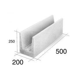 Ladrillo U20 dinteles/encadenados HCCA 200mm x 250mm x 500mm